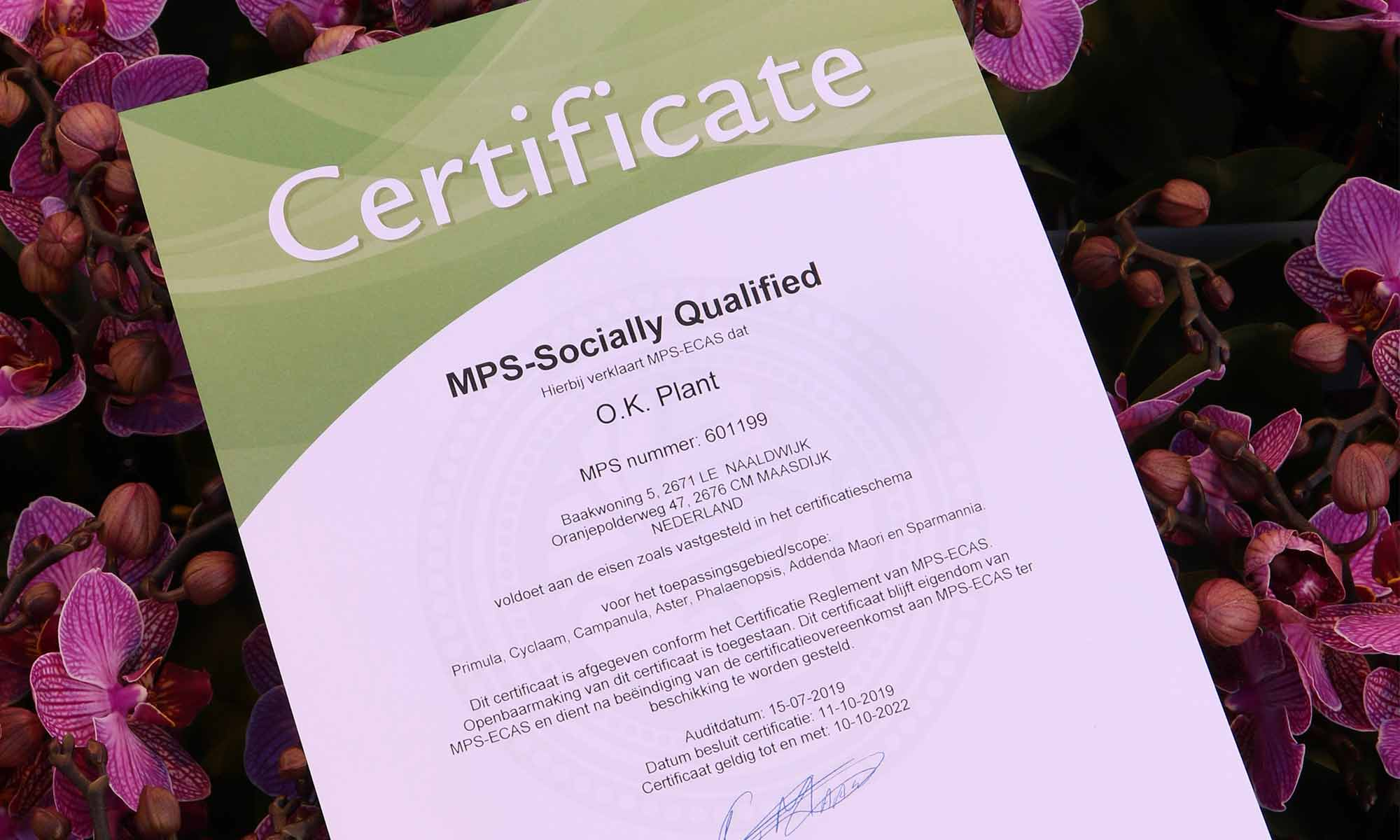 MPS-Socially Qualified certificaat